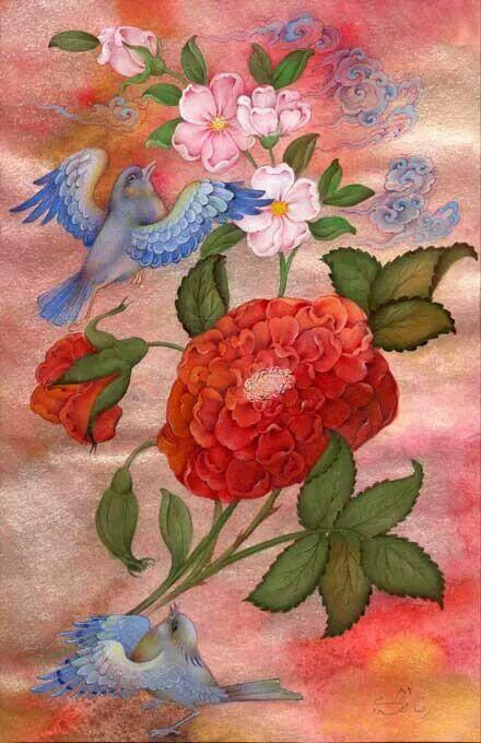 Flower and Bird - 2001 - Reza Mahdavi