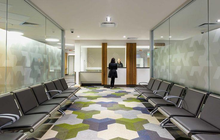 Bolon floor tiles in Lyell McEwin Hospital in Adelaide, Australia