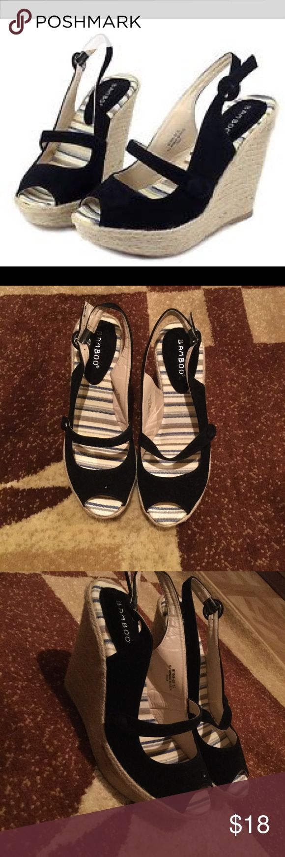 Bamboo Wedges -New and in great condition  - Never been worn -size 7 1/2 BAMBOO Shoes Wedges