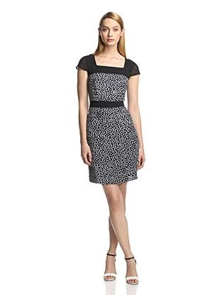 55% OFF DSdress Women's Cap Sleeve Dress (Black)