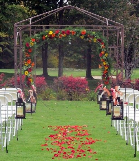 Country Rustic Wedding Altars: Best 25+ Fall Wedding Arches Ideas On Pinterest
