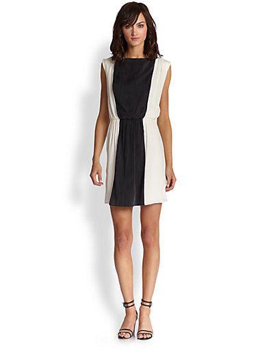 Alice + Olivia - Kennedy Silk Dress - Saks.com