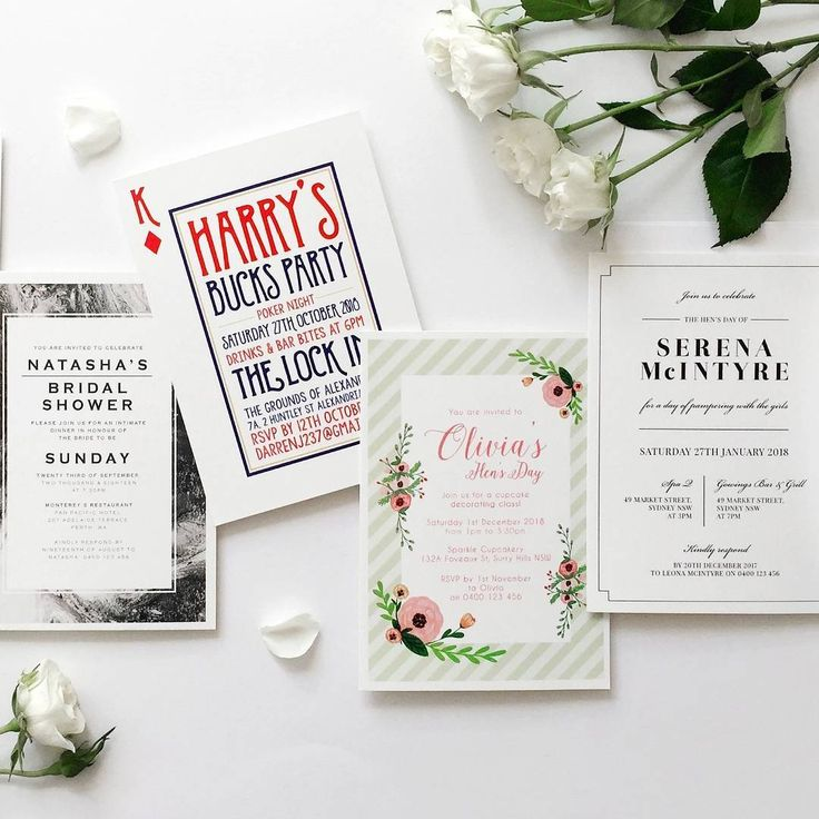 Marble, floral and playful pre-wedding invitations for bridal showers, buck's parties and hen's nights!  http://candlebarkweddings.com.au/pre-wedding-events.html