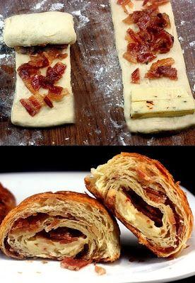 Napolitanas de Bacon y queso