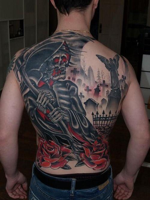 Cool Back Tattoo, Graveyard