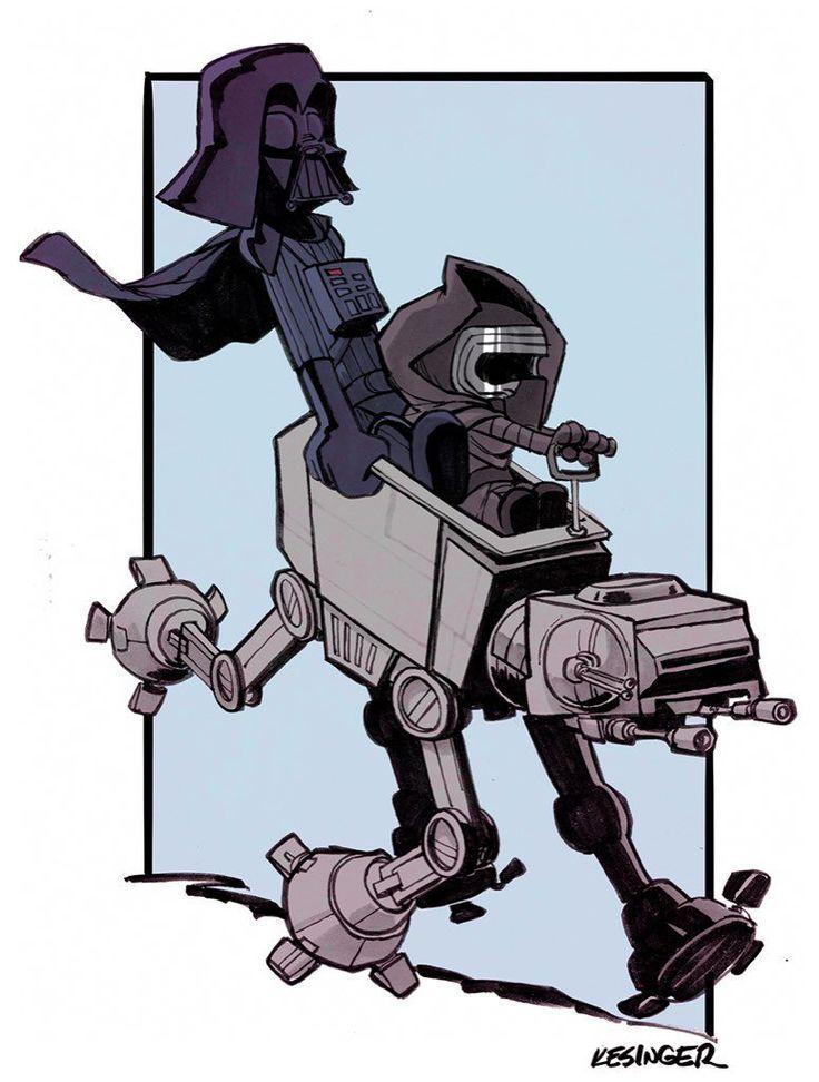 Darth and Kylo (Calvin and Hobbes and Star Wars mashup) - by Brian Kesinger - #4