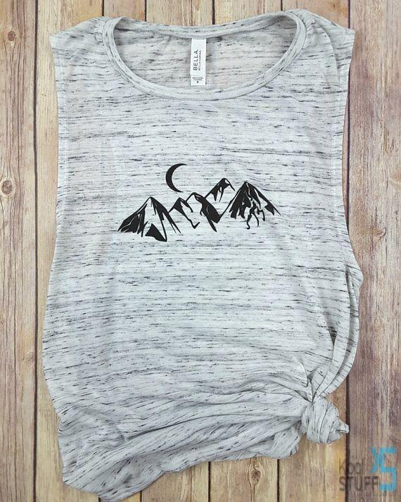 Mountain Muscle Tank  Mountains Tee  Hiking Shirt  Gym