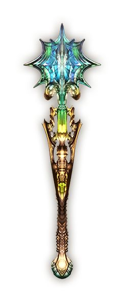 "This mace, dubbed the ""Morning Star"", is another of the Bellascomsa line. Made from enchanted pieces of painted glass, this weapon is a holy relic thought to be blessed by the Pantheon. Whether it truly was or not is of little concern. The ""Morning Star"" is famous for its quirk of only being able to be wielded by the pure of heart. It actively seeks out wickedness in the battlefield to destroy it. Though retired from active service, this weapon has been claimed by the Gavara Church."