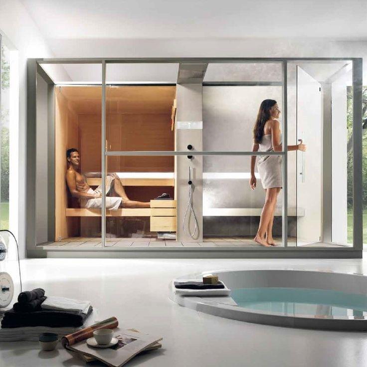 Cabina doble para ba o de lujo moderno con minipool de for Design moderno della cabina