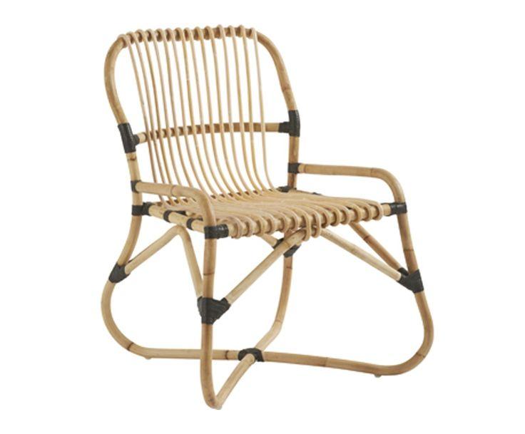 Fauteuil MORCENX osier et bois de kubu, naturel - L65 | Westwing Home & Living