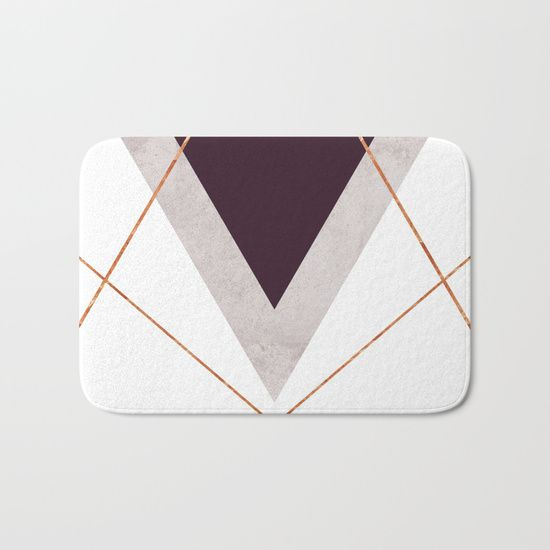 PLUM COPPER AND BLUSH GEOMETRIC Bath Mat  on #society6 COPPER, GOLD, BLUSH, PINK, PLUM, PURPLE, TRIANGLES, GEOMETRIC, GEOMETRY, CIRCLES, DOTS, SCANDINAVIAN DESIGN, SCANDINAVIAN PRINT, GOLDEN, MODERN, MINIMALISM, MINIMALIST, SHAPES, LINES, SOCIETY6, INTERIOR DESIGN, HOME DECOR, WALL ART, TAPESTRIES