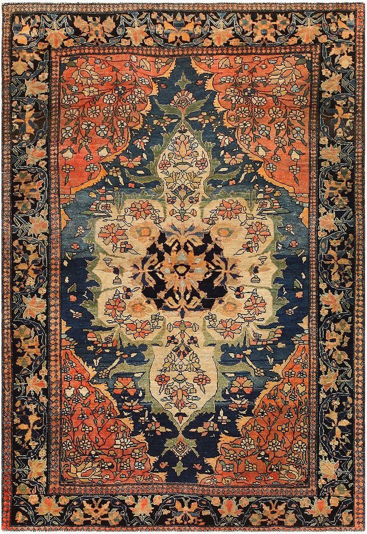 Anique Persian Faharan Sarouk Rug 48101 Detail Large View By Nazmiyal Antique Rugs And Carpet Gallery