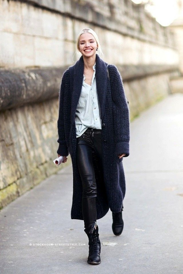 Model-Off-Duty Style: 3 Ways To Wear A Maxi Cardigan | WhoWhatWear