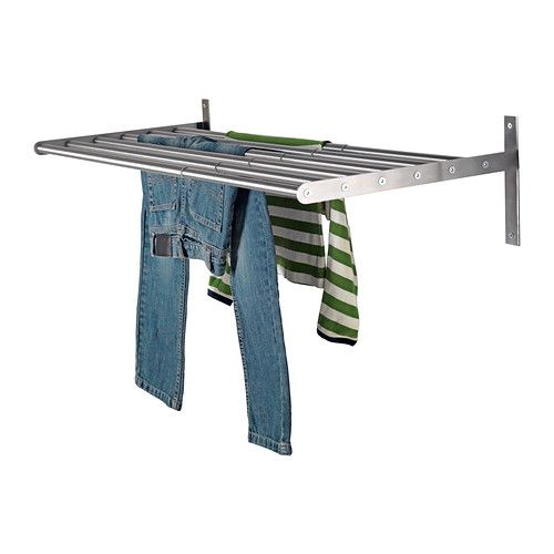 GRUNDTAL Drying rack, wall IKEA The width can be adjusted to suit your needs. Suitable for use in damp spaces.