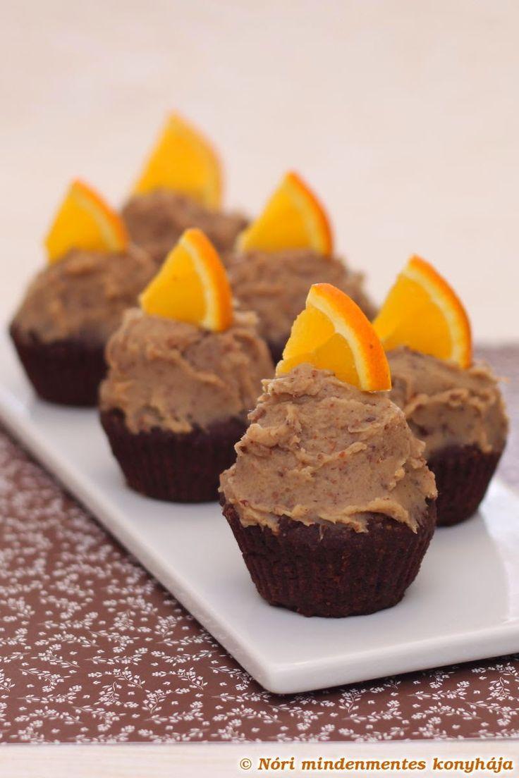 Nóri mindenmentes konyhája: Csokis muffinok gesztenyés-narancsos mázzal, mindenmentesen #gluténmentes #vegán