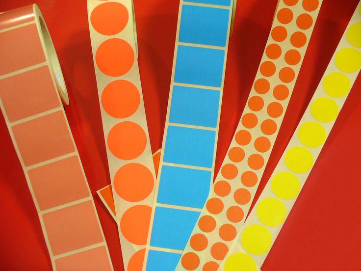 Etichete Colorate in Rola si in Coala