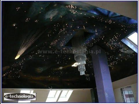 nowoczesny dom lampa światłowodowa wystrój poddasza wnętrza