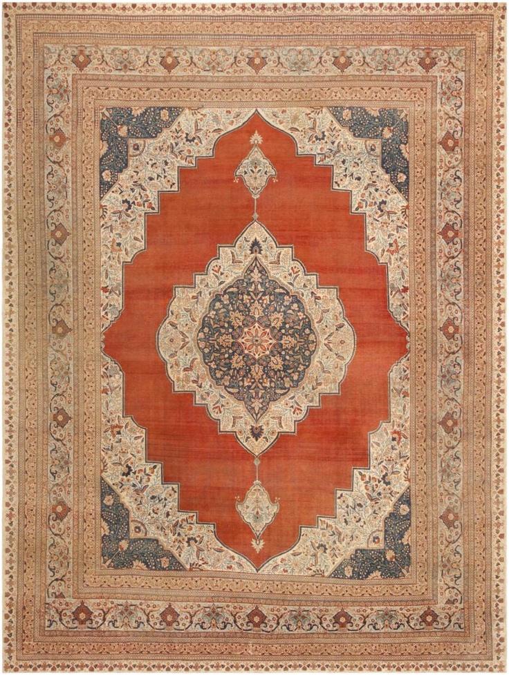 Antique Tabriz Persian Rug 45765 - By Nazmiyal | سجاد جميل ...