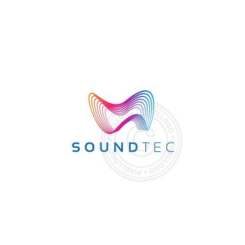 Sonar, Audio Technology Logo - sound waves, music logo, sound mixer, sound engineer | Pixellogo