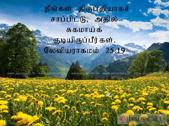 நீங்கள் திருப்தியாகச் சாப்பிட்டு, அதில் சுகமாய்க் குடியிருப்பீர்கள். லேவியராகமம் 25:19