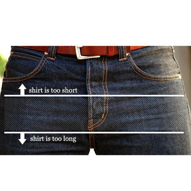 Use this guide to determine if your untucked shirt is too long or too short.