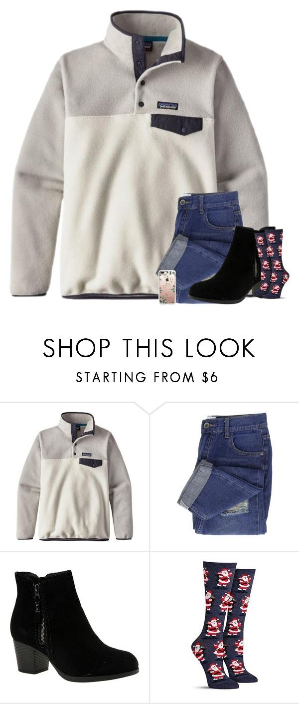"""""""day 23: merry Christmas eve eve"""" by haileyelizabethxoxo on Polyvore featuring Patagonia, Skechers and Casetify"""