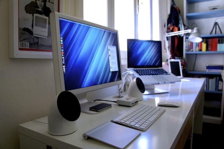Snazzy Dual Screen Laptop Setup Mac Desk Imac Desk