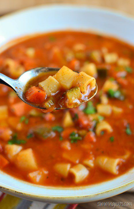 Slimming Eats Minestrone Soup - gluten free, dairy free, vegetarian, Slimming World and Weight Watchers friendly
