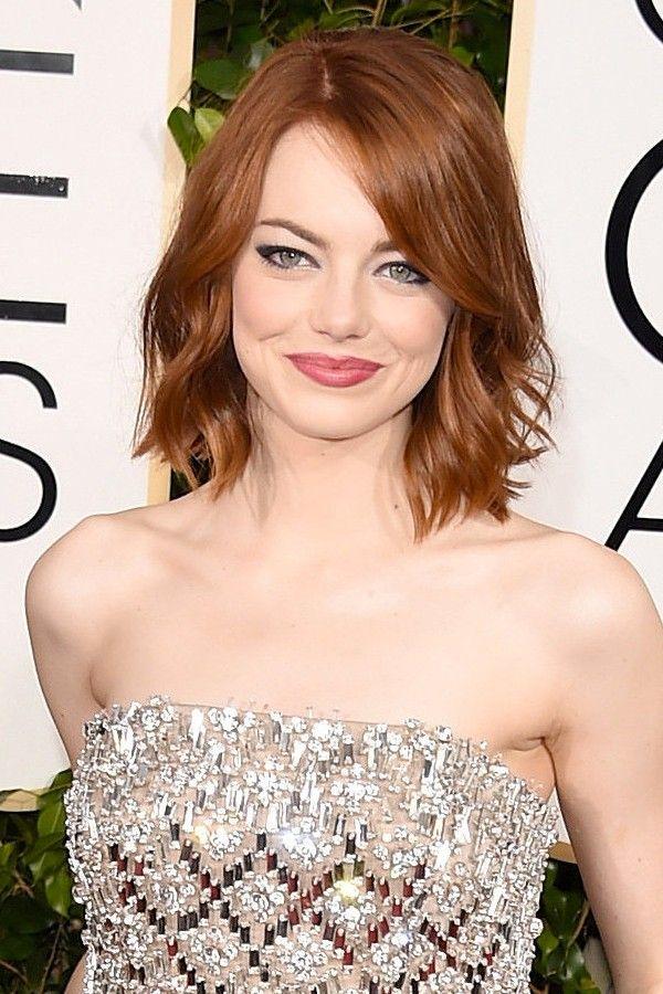 Les coiffures des Golden Globes | Coiffure carré droit, Coiffure, Cheveux courts tete ronde