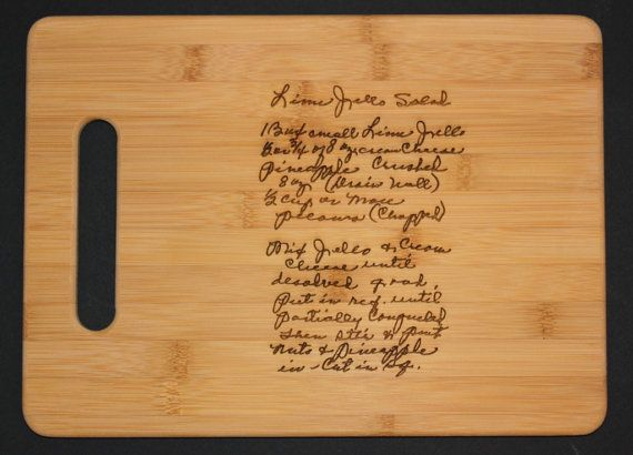 Recipe scanned from Mom's or Grandma's handwriting  by 3DCarving, $30.00