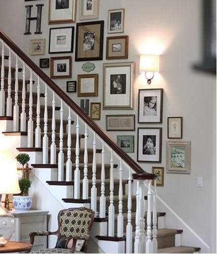 The Staircase Steps Decor Ideas: Best 25+ Picture Wall Staircase Ideas On Pinterest