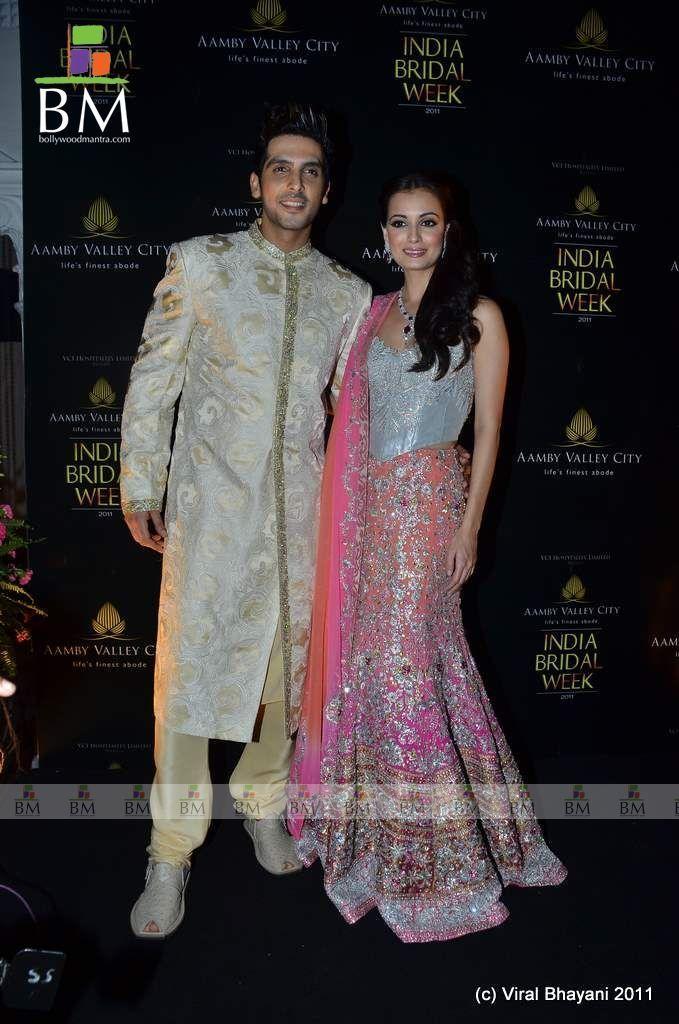 Dia Mirza and Zayed Khan for Adarsh Gill at Aamby Valley India Bridal Week 2011