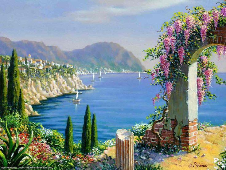 ART~ The Peaceful Mediterranean Sea~ Bob Pejman.