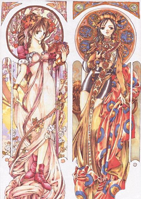 Green Glass, Final Fantasy VII, Aerith Gainsborough, Tifa Lockhart