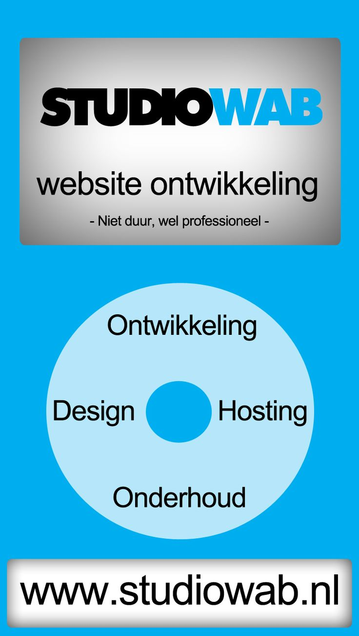 Studiowab, website ontwikkeling, design, hosting, onderhoud, niet duur, wel professioneel, #Haarlem