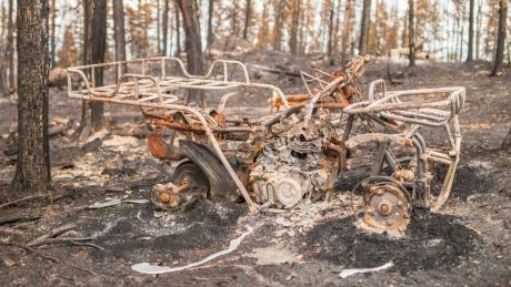 06/26/2015 - Saskatchewan's Myles Biblow captures forest fire aftermath - Biblow and his family lost their cabin at Nemeiben Lake
