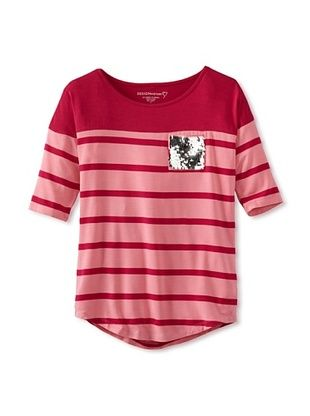 76% OFF Design History Girl's Tee (Pink Popsicle Stripe)