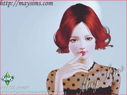 Mayims: 심즈3 헤어 (Sims 3 Hair) - May_TS3_Hair08F