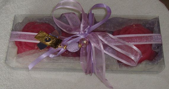 Lilac Elegant Gift Set for Women with Luxury Scented Soaps & a Handmade Purple Jewelry Necklace:Ideal for Feast,Birthday,Mother day