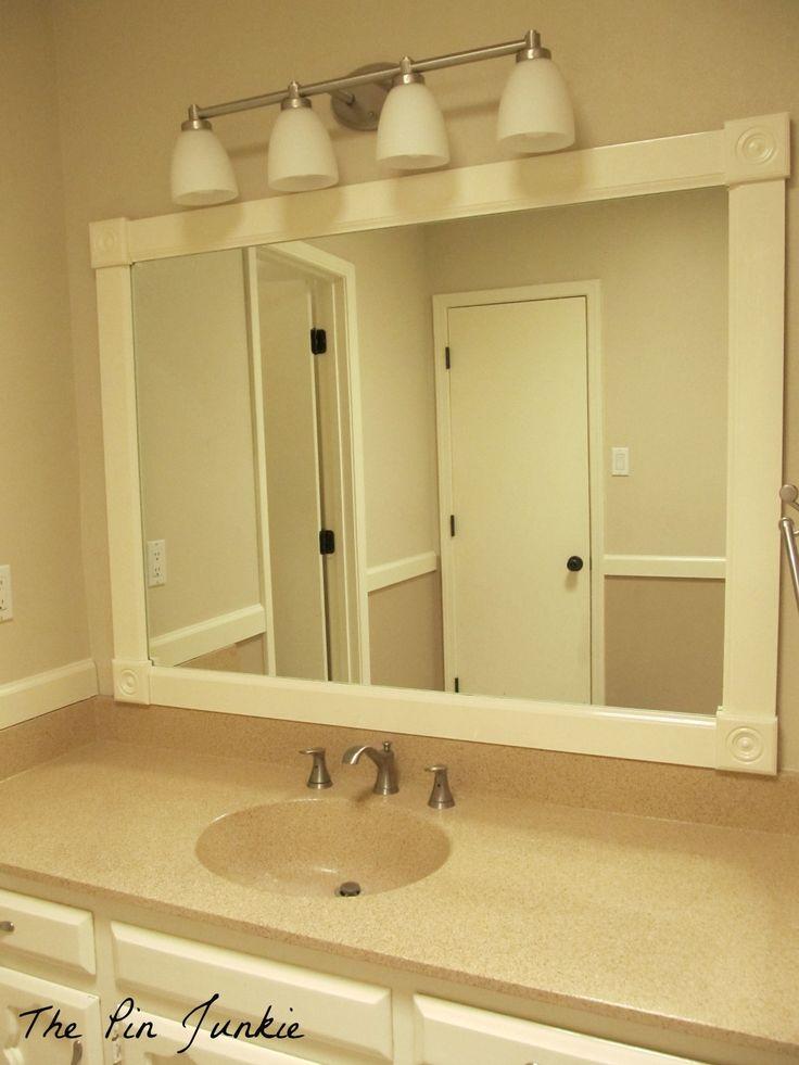 25 best large bathroom mirrors ideas on pinterest - How do you frame a bathroom mirror ...