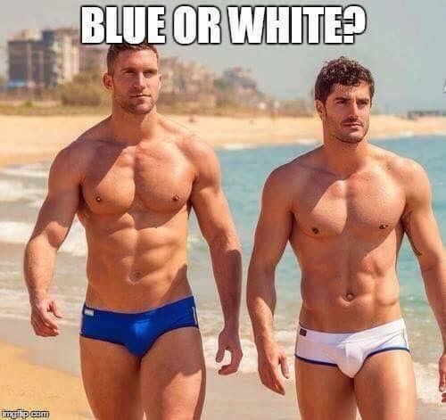 Blue or white?