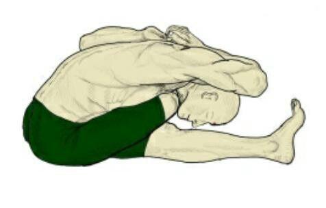 pin de yoga selvasana en ardha gomukha paschimottanasana