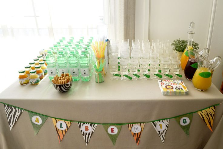 Jungle party_drink buffet