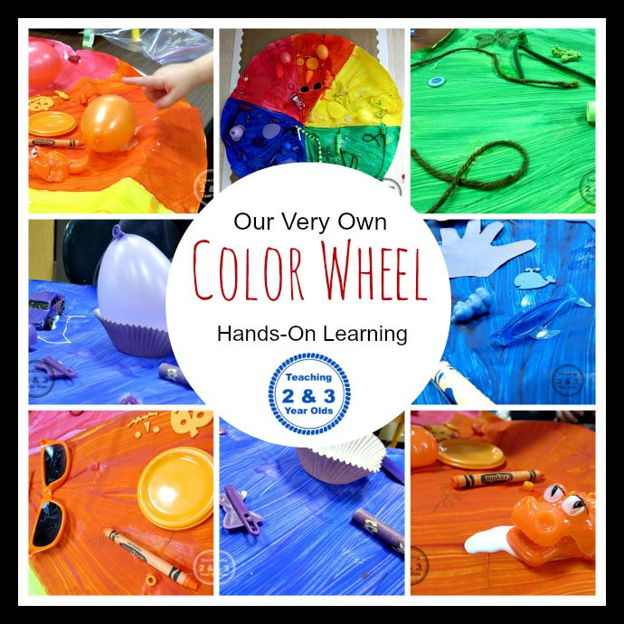 Teaching 2 and 3 Year Olds: Preschool Color Matching Activity - Creating Our Own Color Wheel