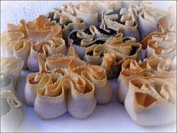 Tilicas      Image courtesy of Francesco  Tilicas are an example of particular Sardinian almond paste cookies using honey.