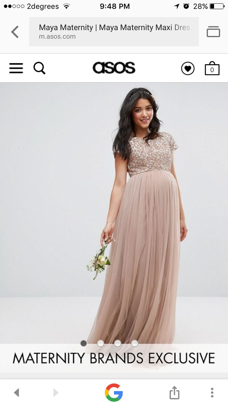Chelsea In Sparkles Maternity Wedding Dress For Bridesmaid Or Guest