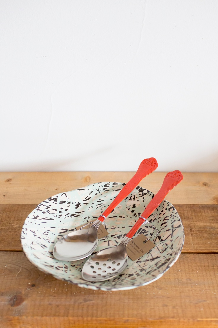 Nyth fruit bowls and Superior serving spoons by Ladies and Gentleman Studio in Seattle. Photography by Sachin Khona