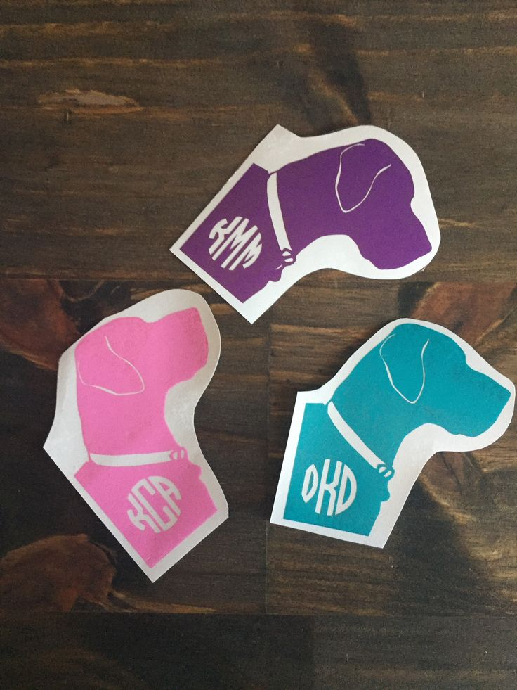 Custom Monogrammed Dog Decal
