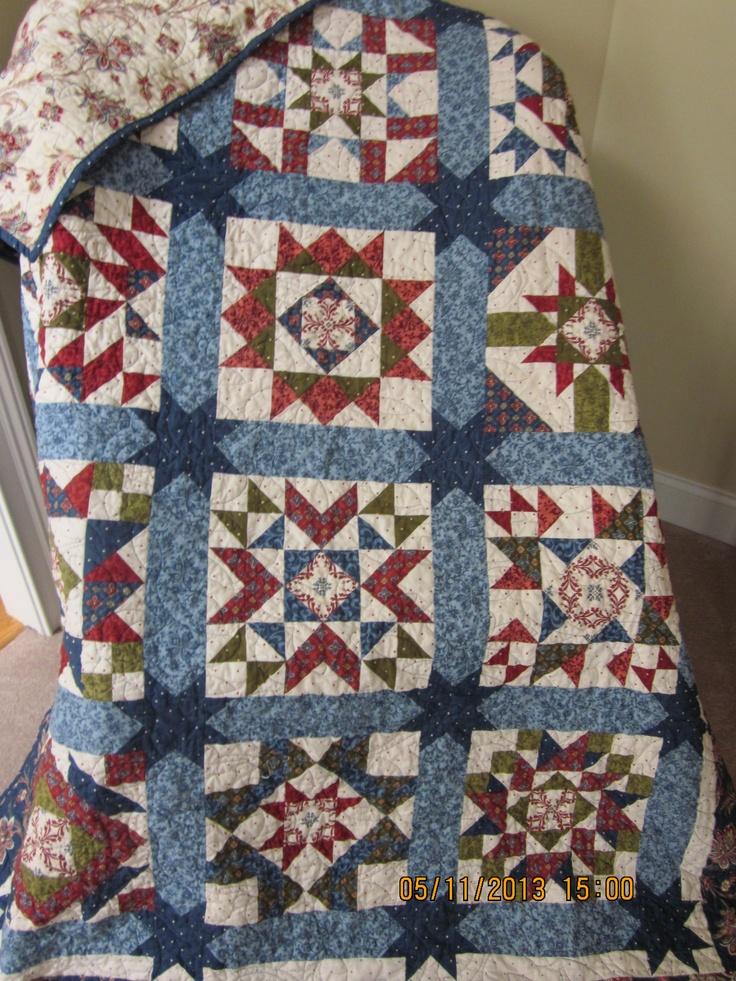 A sampler quilt.
