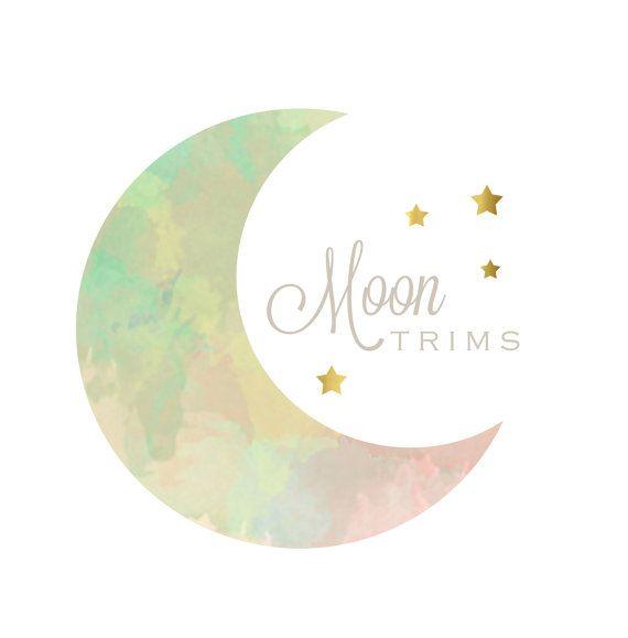 Watercolor Moon & Stars Logo - Watermark - Branding - Small Business - Blog - Boutique - Photography - Photographer - Children - Newborn